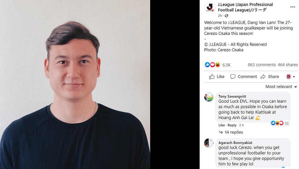 """Văn Lâm bị CĐV Thái Lan trù ẻo: """"Tận hưởng ghế dự bị nhé"""""""